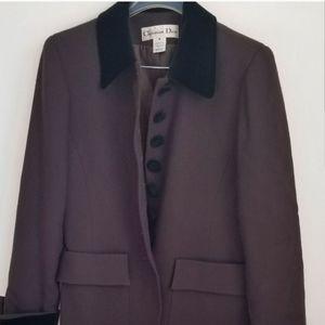 CHRISTIAN DIOR Vintage 100% wool Fitted Blazer